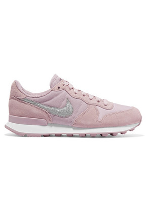 Nike - Internationalist Suede And Ribbed-knit Sneakers - Pink