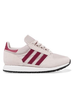 adidas Originals - Forest Grove Suede And Mesh Sneakers - Gray