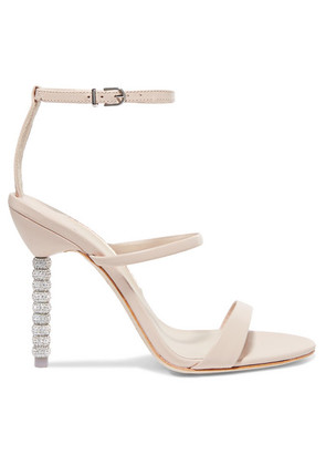 Sophia Webster - Rosalind Crystal-embellished Leather Sandals - Off-white