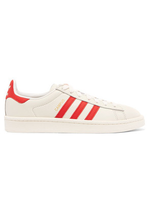adidas Originals - Campus Coated Canvas-trimmed Leather Sneakers - White