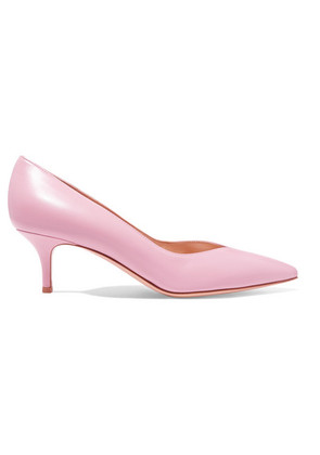 Gianvito Rossi - 55 Leather Pumps - Baby pink