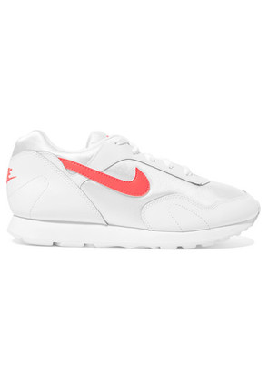 Nike - Outburst Leather And Mesh Sneakers - White