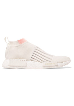 adidas Originals - Nmd cs1 Rubber-trimmed Primeknit Sneakers - Off-white