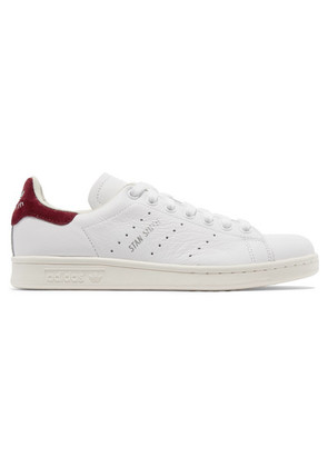 adidas Originals - Stan Smith Suede-trimmed Leather Sneakers - White