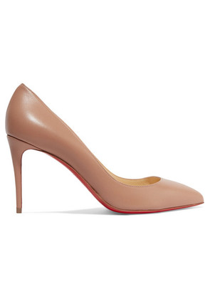 Christian Louboutin - Pigalle Follies 85 Leather Pumps - Beige