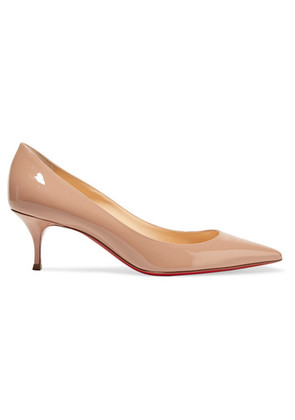 Christian Louboutin - Pigalle Follies 55 Patent-leather Pumps - Beige