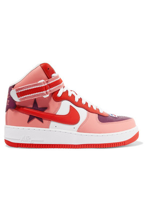 Nike - + Riccardo Tisci Air Force 1 Leather High-top Sneakers - Purple