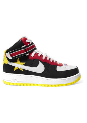 Nike - + Riccardo Tisci Air Force 1 Leather High-top Sneakers - Black