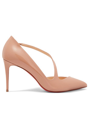Christian Louboutin - Jumping 85 Patent-leather Pumps - Neutral