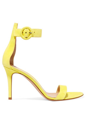 Gianvito Rossi - Portofino 85 Suede Sandals - Yellow