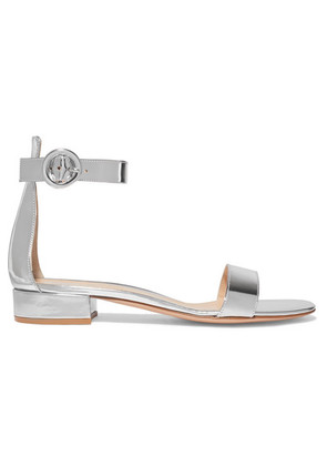 Gianvito Rossi - Versilia 20 Metallic Leather Sandals - Silver