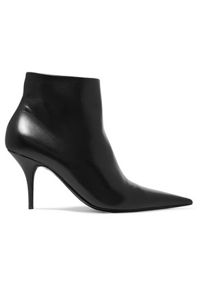 Balenciaga - Knife Leather Ankle Boots - Black