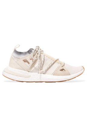 adidas Originals - Arkyn Suede-trimmed Mesh Sneakers - White