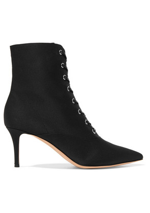 Gianvito Rossi - 70 Faille Ankle Boots - Black