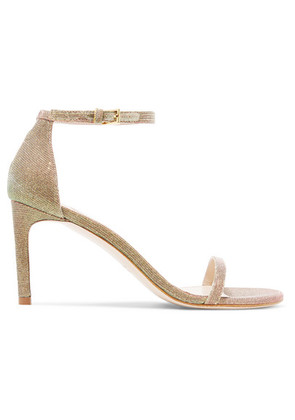 Stuart Weitzman - Nudist Metallic Lamé Sandals - Gold
