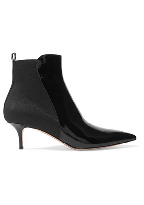 Gianvito Rossi - Patent-leather Ankle Boots - Black