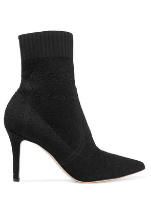 Gianvito Rossi - 85 Stretch-terry Sock Boots - Black