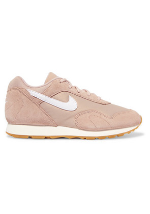 Nike - Outburst Suede, Mesh And Leather Sneakers - Beige