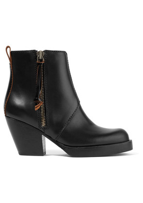 Acne Studios - The Pistol Leather Ankle Boots - Black
