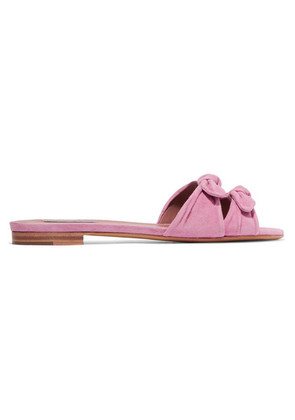 Tabitha Simmons - Cleo Suede Slides - Baby pink