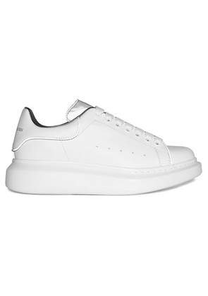Alexander McQueen - Reflective-trimmed Leather Exaggerated-sole Sneakers - White