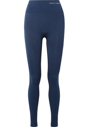 Perfect Moment - Paneled Stretch Leggings - Navy