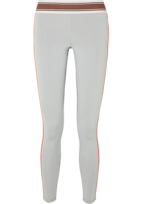 Olympia Activewear - Pria Paneled Stretch Leggings - Gray