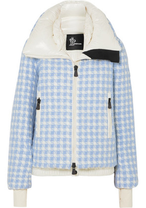 Moncler Grenoble - Mufule Checked Embroidered Quilted Glossed-shell Down Jacket - Light blue