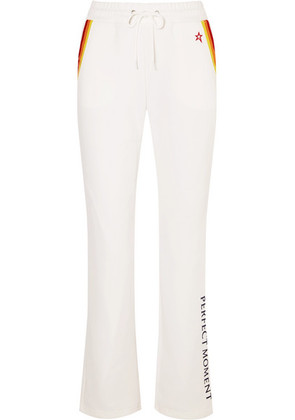 Perfect Moment - Printed Jersey Track Pants - White