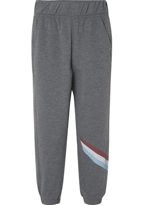 LNDR - Cool-down Cropped Striped Jersey Track Pants - Gray