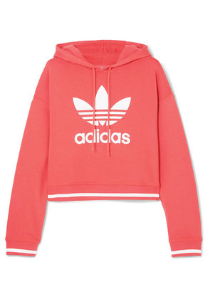 adidas Originals - Ai Cropped Printed Cotton-blend Jersey Hoodie - Red