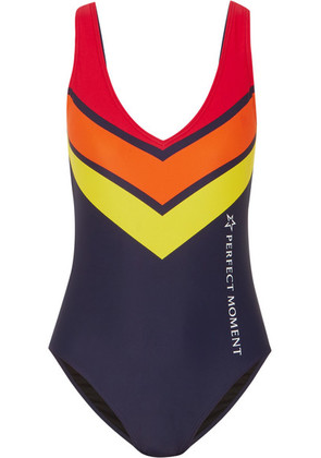 Perfect Moment - Printed Swimsuit - Navy
