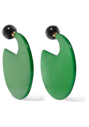 Marni - Resin Earrings - Green