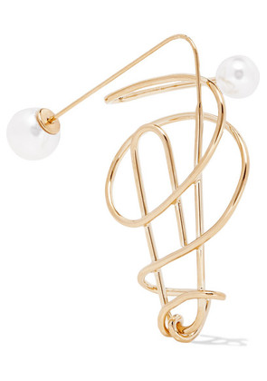 Hillier Bartley - Gold-plated Faux Pearl Earring - one size