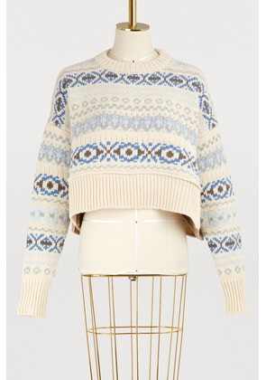 Cropped wool sweater