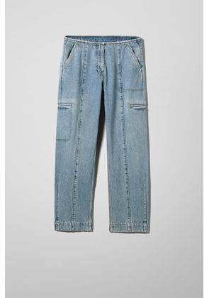 North Carolina Washed Blue Denim Trousers - Blue