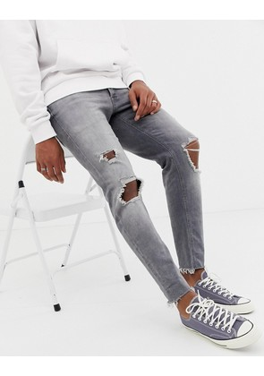 Jack & Jones Slim Fit Raw Hem Jeans