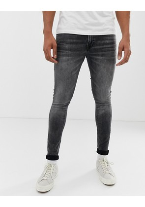 Jack & Jones skinny fit jeans in washed black