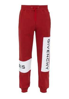 Givenchy - Logo Embroidered Cotton Track Pants - Mens - Red
