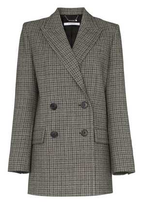 Givenchy double-breasted check wool blazer - Black