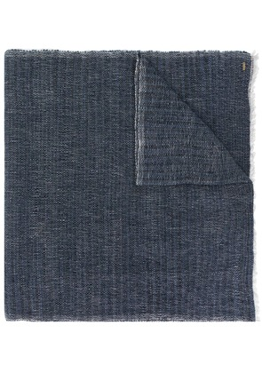 From The Road frayed edges scarf - Grey