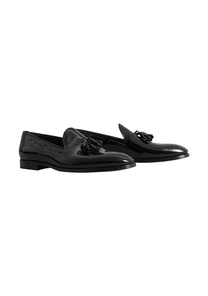Burberry Tasselled Patent Leather Loafers - Black