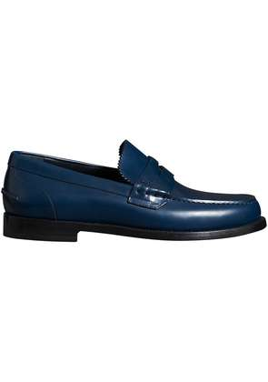 Burberry Leather Penny Loafers - Blue