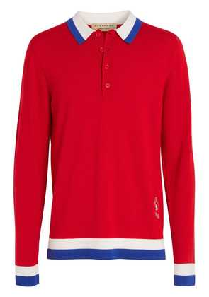 Burberry knitted polo shirt - Red