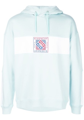 Givenchy printed logo hoodie - Blue