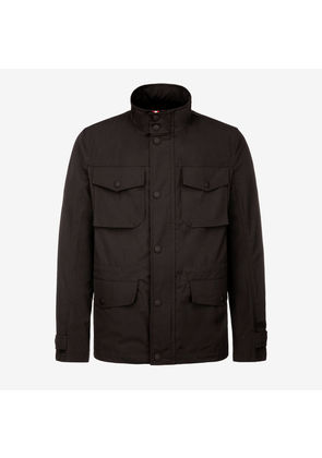 Bally Cotton Canvas Field Jacket Black, Men's cotton canvas field jacket in black