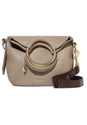 See By Chloé - Monroe Small Textured-leather Tote - Gray