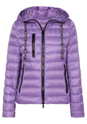 Moncler - Hooded Quilted Shell Down Jacket - Purple