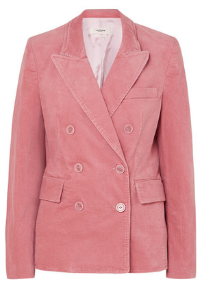 Isabel Marant Étoile - Alsey Double-breasted Stretch-cotton Velvet Blazer - Pink