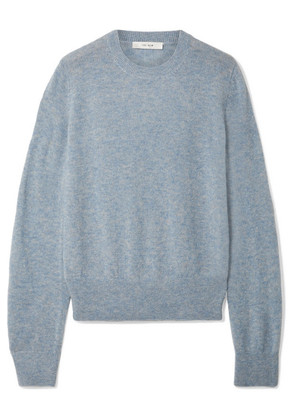The Row - Minco Cashmere And Silk-blend Sweater - Light blue